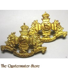 Collar badges Hastings & Prince Edwards Rgt Canada 1st Canadian Division