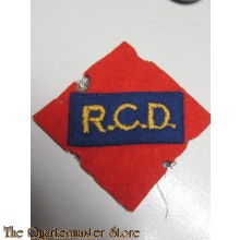 Sleeve patch Royal Canadian Dragoons (R.C.D.)