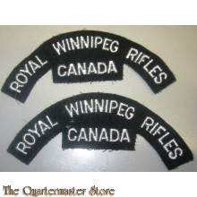 Shoulder titles Royal Winnipeg Rifles