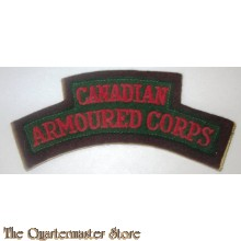 Shoulder title Canadian Armoured Corps R.C.A.C.