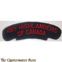 Shoulder title 48th Highlanders of Canada 1st Canadian Armoured Division