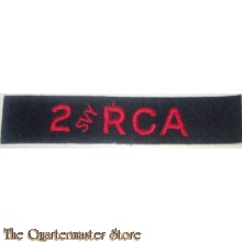 Shoulder title 2 Survey Regiment Royal Canadian Artillery  2 SVY R.C.A.