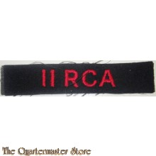 Shoulder title 11 Royal Canadian Artillery 11 RCA