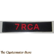 Shoulder title 7 Royal Canadian Artillery 7 RCA
