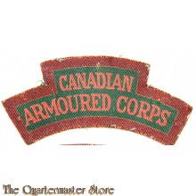 Shoulder title Canadian Armoured Corps R.C.A.C. (canvas)