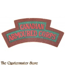 Shoulder title Canadian Armoured Corps C.A.C. (canvas)