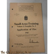 Manual Small arms Training Pamphlet No 2 , Vol 1 Apllication of Fire