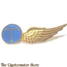Brevet Luchtvarenden T (Telegrafist) KLU Halve wing metaal
