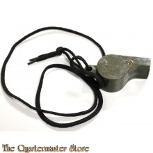 WWII US green plastic whistle, marked US Navy and dated 1944, used by MPs, and mostly by small unit leaders (Squad, Platoon...).in working condition