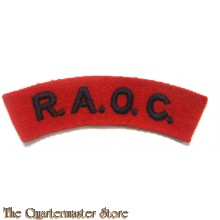 Shoulder title Royal Army Ordnance Corps RAOC