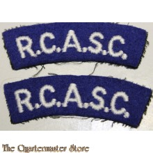 Shoulder flashes R.C.A.S.C. (postwar)