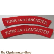 Shoulder titles York and Lancaster regiment