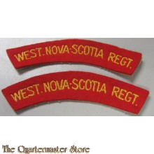 Shoulder titles West Nova Scotia Regiment , 1st Canadian Infantry Division