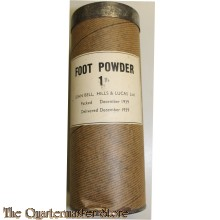 WW2 British Army Foot powder large tin, with contents 16oz