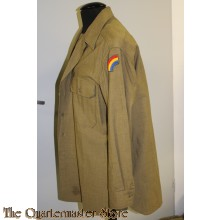 "Shirt, Flannel, O.D. EM Coat Style 42nd Infantry Division (42ID) (""Rainbow"") (Overhemd manschappen WW2 42nd Infantry Division (42ID) (""Rainbow""))"
