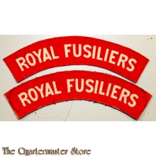 Shoulder flashes Royal Fusiliers