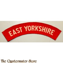 Shoulder flash East Yorkshire Regiment (canvas)