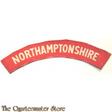 Shoulder flash Northamptonshire Regiment (canvas)