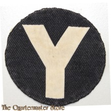 "Formation patch 5th Division ""White Y On Black Circle"" (canvas)"