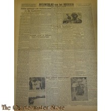 Krant Nieuwsblad van het Noorden zaterdag 11 sept 1943