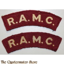 Shoulder flashes Royal Army Medical Corps (R.A.M.C.)