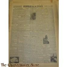 Krant Nieuwsblad van het Noorden zaterdag 18 sept 1943