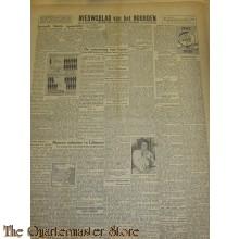 Krant Nieuwsblad van het Noorden donderdag 18 nov 1943