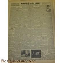 Krant Nieuwsblad van het Noorden donderdag 25 nov 1943