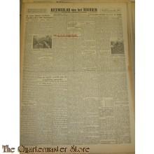 Krant Nieuwsblad van het Noorden maandag 29 nov 1943