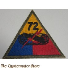 Mouwembleem 72e Armored Divison (Sleevebadge 72nd Armored Division)