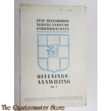Oefenaanwijzing no 1 1945