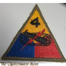 Mouwembleem 4e Armored Divison (Sleevebadge 4th Armored Division)