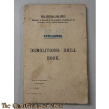 British demolition Drill book pre WW2