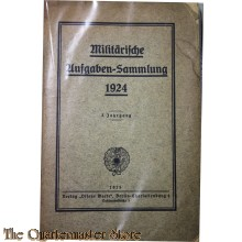 Militärische Aufgaben-Sammlung 1924 3er Jahrgang