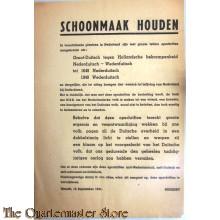 Flyer Schoonmaak Houden NSB 15 september 1941 Mussert