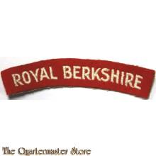 Shoulder flash Royal Berkshire Regiment