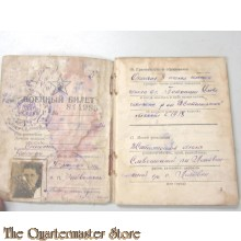 Russian 1945 soldiers ID / Paybook
