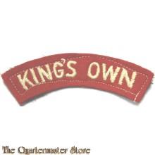 Shoulder flash King's Own Lancaster Regiment