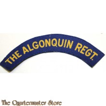 Shoulder flash The Algonquin Regiment (canvas)