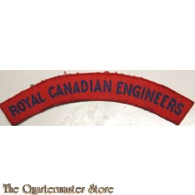 Shoulder flash Royal Canadian Engineers (canvas)