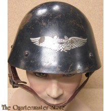 Czech M34 Helmet which has been re-issued to the 'Luftschutz'