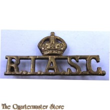 Shoulder title Royal Indian Army Service Corps RIASC (Post 1935)