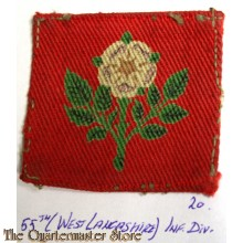 Formation patch 55th (West Lancashire) Infantry Division (canvas)