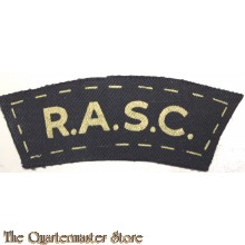 Shoulder flash Royal Army Service Corps R.A.S.C. (canvas)