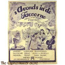 Voorblad muziek 's Avonds in de taveerne 1940