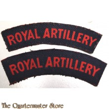 Shoulder flashes Royal Artillery (canvas)