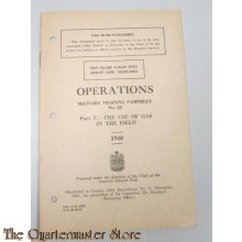 Manual Operations use of Gas in the field Pamphlet no 23 1940
