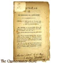 Staatsblad no 41 28 nov 1818 Organisatie der Infanterie van de nationale Militie