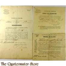 Oproeping tot Lotiing bewijs van inschrijving en oproepsbrief Nationale Militie 1893