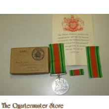 Defence medaille in doos  (Defence medal boxed)